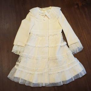 Girl's formal wool coat size 4
